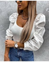 Блуза - код 4236 - бело