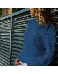 Блуза - код 825 - темно сина