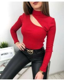 Блуза - код 6363 - црвена