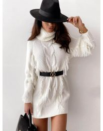 Фустан - код 0810 - бело