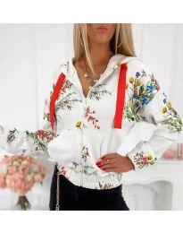 Блуза - код 4173 - бела