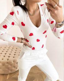 Блуза - код 11633 - бело