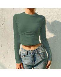 Блуза - код 1124 - путер зелена