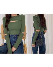 Блуза - код 0566 - зелена