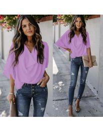 Блуза - код 888 - светло виолетова