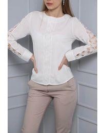 Блуза - код 0639 - 2 - бело