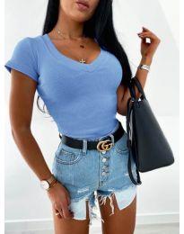 Блуза - код 756 - светло сина