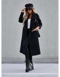 Палто - код 9493 - црна