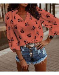 Блуза - код 1619 - праска