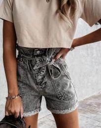 Кратки панталони - код 4525 - 1 - сиво