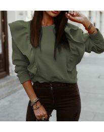 Блуза - код 3890 - зелена