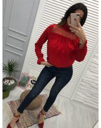 Блуза - код 0626 - 6 - црвена