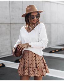 Блуза - код 2629 - бело