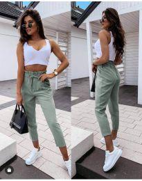 Панталони - код 8585 - зелена