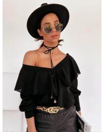 Блуза - код 6030 - црна