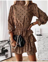 Фустан - код 3665 - кафеава