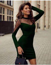 Фустан - код 2484 - темно зелена