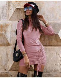 Фустан - код 9545 - розова
