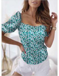 Блуза - код 9897 - зелена