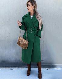 Палто - код 3784 - зелена
