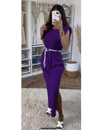 Фустан - код 7049 - темно виолетова
