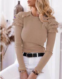 Блуза - код 1645 - 3 - капучино