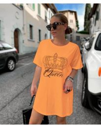 Фустан - код 2525 - портокалова