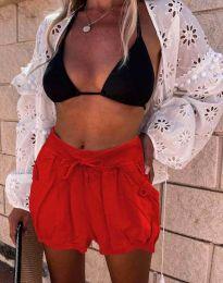 Кратки панталони - код 0320 - 4 - црвена