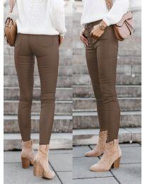 Панталони - код 5052 - кафеава