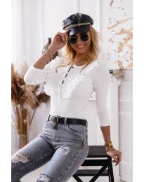 Блуза - код 9792 - 2 - бело