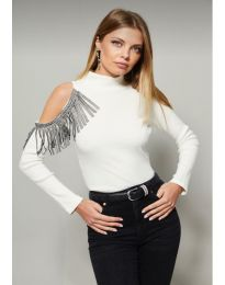 Блуза - код 11464 - 2 - бело