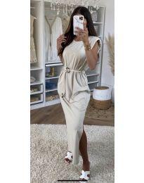Фустан - код 7049 - кремова