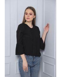 Блуза - код 0629 - 5 - црна