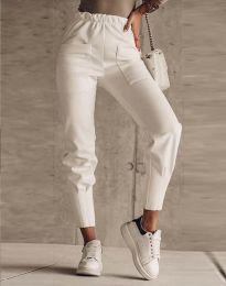 Панталони - код 2252 - бело