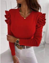 Блуза - код 1653 - 1 - црвена