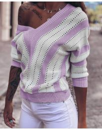 Блуза - код 786 - виолетова
