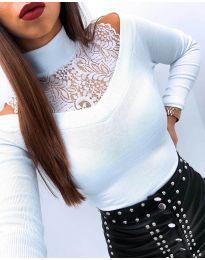 Блуза - код 4254 - бело