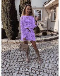 Фустан - код 6208 - виолетова