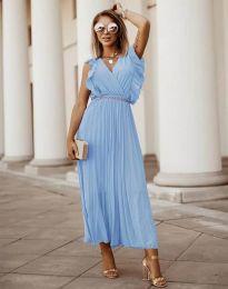 Фустан - код 3320 - светло сина