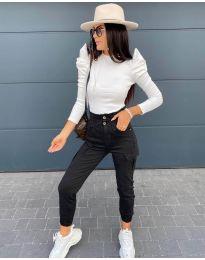 Блуза - код 8027 - бело