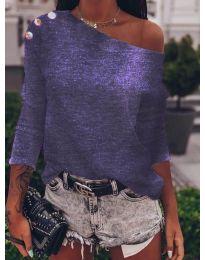 Блуза - код 4417 - темно виолетова