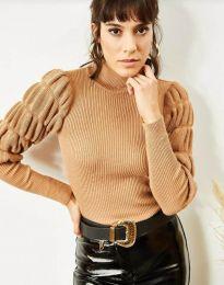 Блуза - код 0737 - кафеава