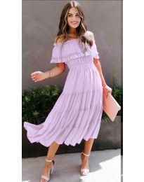 Фустан - код 699 - светло виолетова