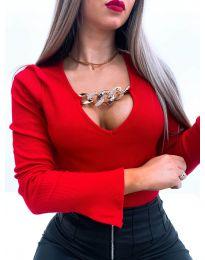 Блуза - код 4190 - црвена
