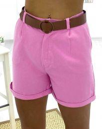 Кратки панталони - код 2236 - 3 - розова