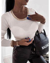 Блуза - код 0981 - бело