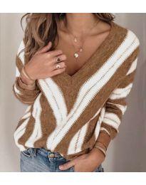Блуза - код 786 - кафеава