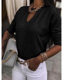 Блуза - код 8059 - црна