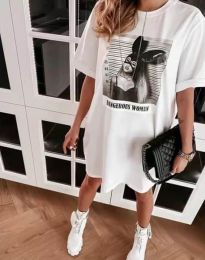 Фустан - код 2919 - бело
