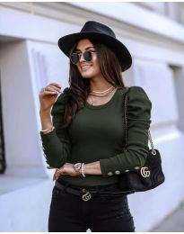 Блуза - код 4448 - путер зелена